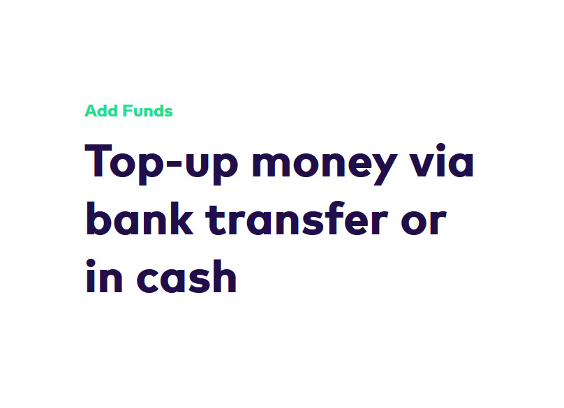 Adding Funds