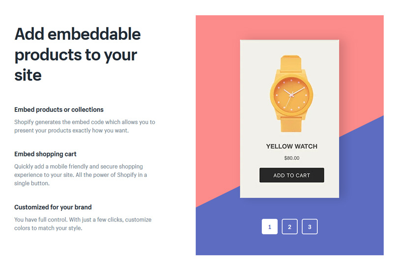 "Embed a ""Buy Button"" for your items in any website"