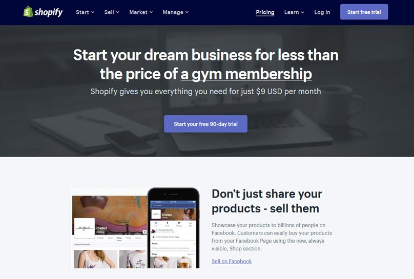 Shopify Lite from $9 Per Month