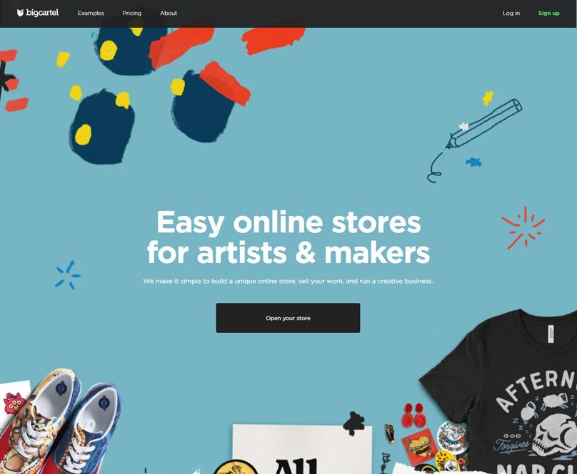 Bigcartel Homepage