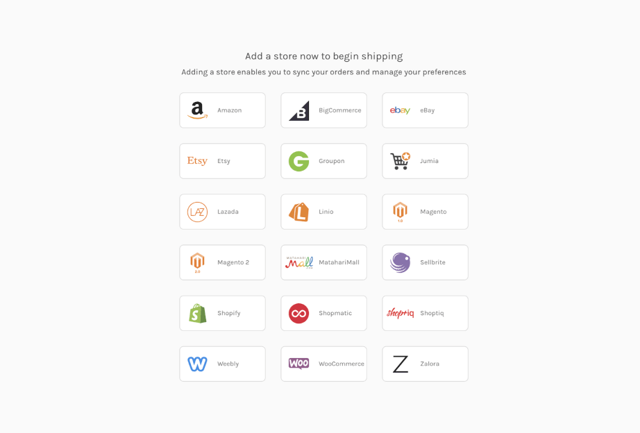 Easyship integrates with lots of eCommerce platforms