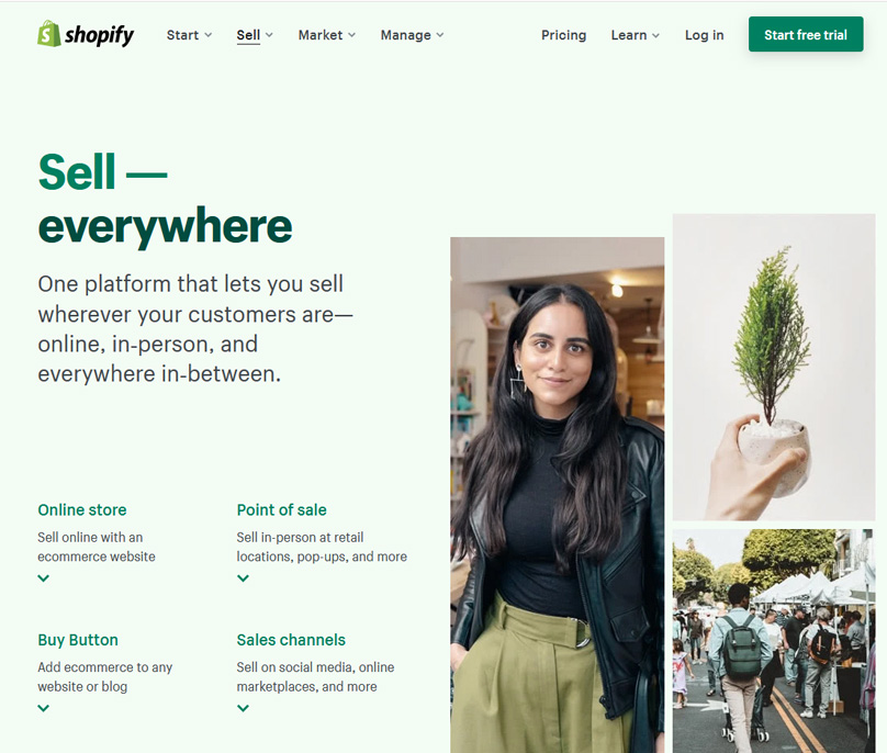 Shopify lets you sell everywhere