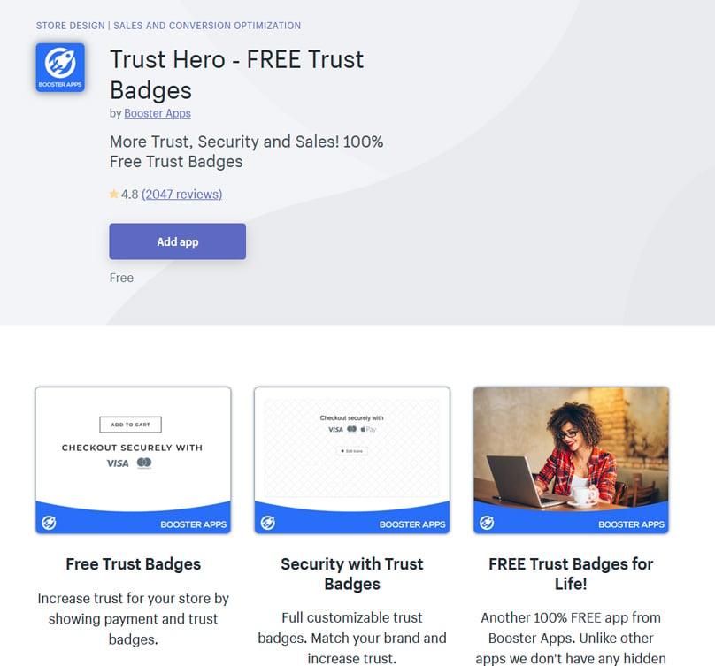 Trust Hero ‑ FREE Trust Badges