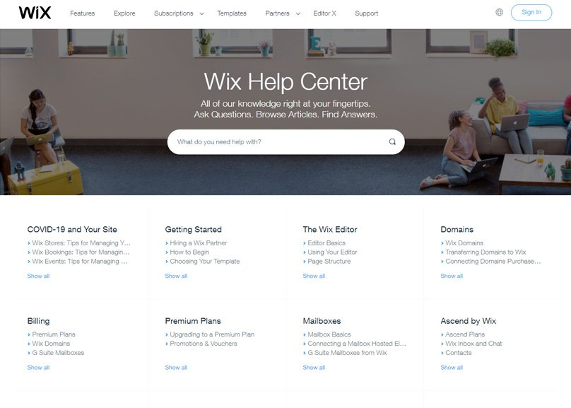 The Wix Help Center