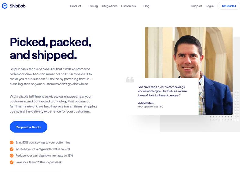 ShipBob Homepage